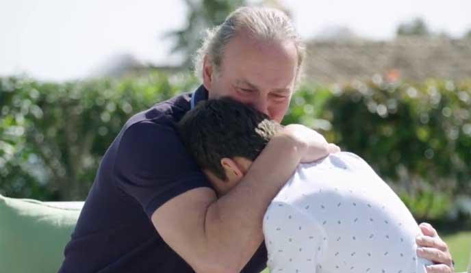 Bertín Osborne no puede evitar romper a llorar en su programa